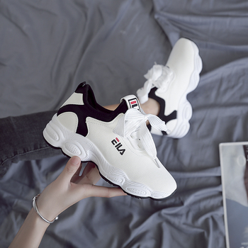 2020 New Platform Sneakers Shoes Breathable Casual Woman Fashion Height Increasing Ladies Summer Outdoor