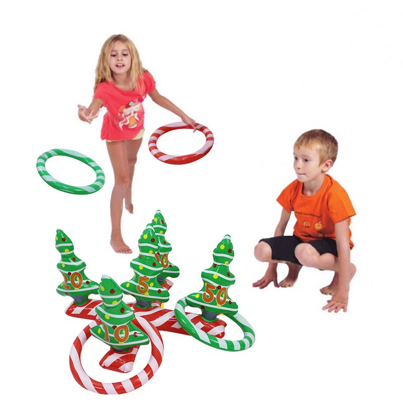 Christmas Tree INFLATABLE RING Toss Game Fun Toys Throwing Ring Adult Kids Christmas Halloween New Year Party Props