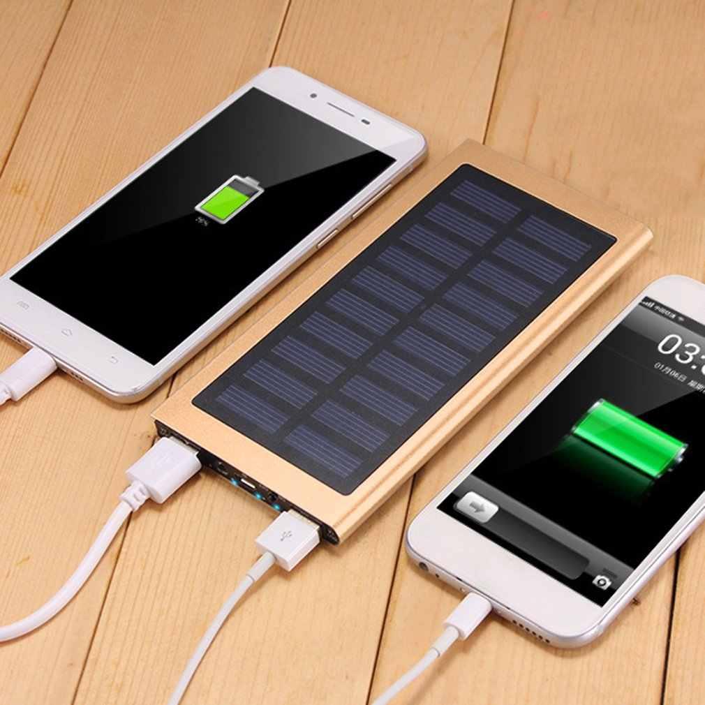 Novo 4000mah banco de energia da bateria solar carregador portátil bateria externa dupla usb powerbank para xiaom iphone celular baterias
