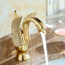 Basin Faucets Cold-Taps New-Design Gold-Mixer Copper Luxury Hot Hotel And