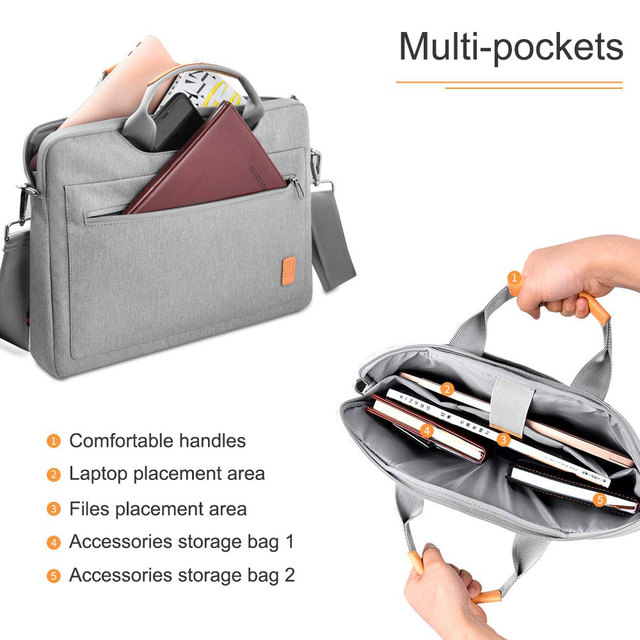 Gray Wiwu Sleeve Case For Laptop And MacBook Air & Pro  2