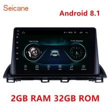 Reproductor Multimedia con GPS para coche, navegador, 2GB RAM, 32GB ROM, Android 8,1, 2Din, wifi, SWC OBD, Mirror Link, para Mazda 3, Axela 2013
