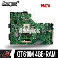 Asepcs X75VC Laptop motherboard For ASUS X75VB X75VC X75V X75VD mainboard GT610M 4GB-RAM HM76 Support i3 i5 i7