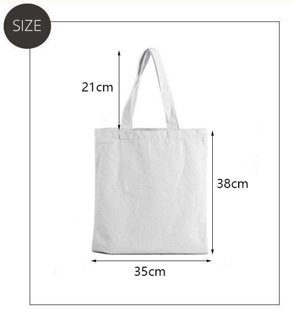 Ladies Handbags Girl Power Quotes Canvas Tote Bag Shopping Travel Women Eco Reusable Shoulder Shopper Bags High Capacity 3