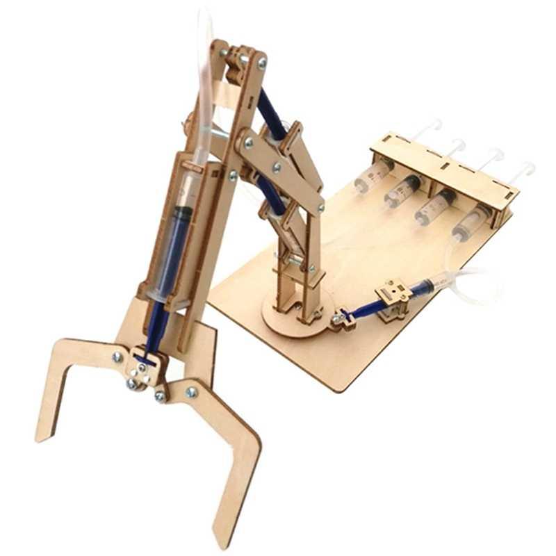 Гидравлическая механическая рукоятка Diy модели и строительные игрушки научная