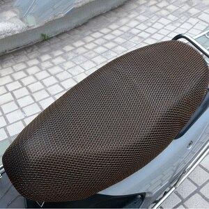 Image 4 - 1PCS XXL 3D Mesh Motorrad Sitz Abdeckung Atmungs Sonne wasserdichte Motorrad Roller Sitzbezüge Kissen Motorrad schutz