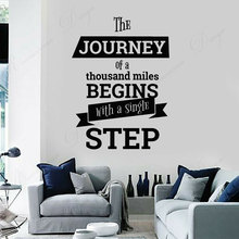 Vinyl Wall Decal Motivation Poster Phrase Typographic Words Stickers Interior Room Decor Wallpaper Murals 4336