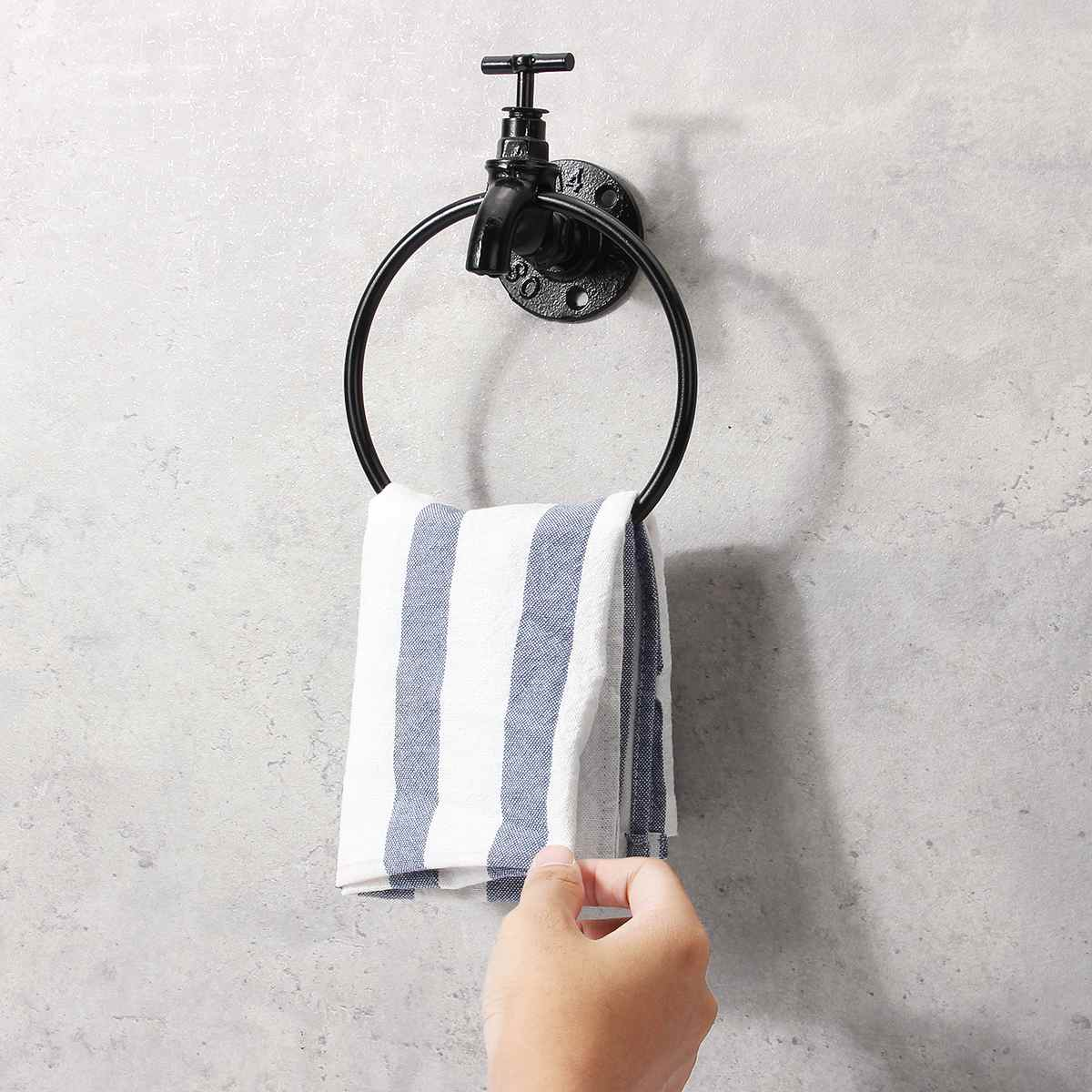 Retro Wall Mounted Towel Ring Holder