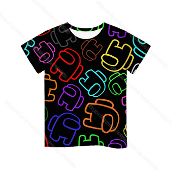 Cartoon Tee  Baby Kids Boys Girls Children Short Sleeves Summer Clothing Fashion 3d Print Toddler Camiseta 24