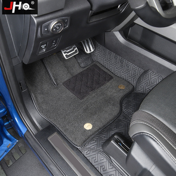 JHO 360 Insert Car Double Layer Floor Mats For Ford F150 RAPTOR 2017 2018 2019 Truck Accessories Carpet
