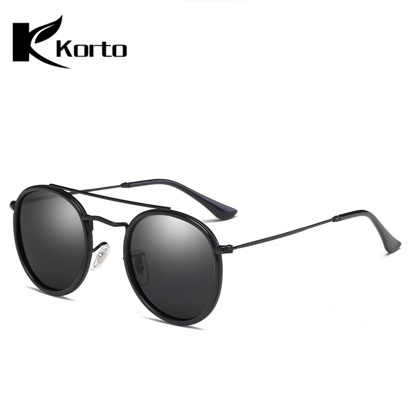 Korto Luxury Unisex Round Sunglasses Men Ladies Polarized Sun Glasses Male Driving TAC Oculos Vintage Circle Glasses Okulary in Men 39 s Sunglasses from Apparel Accessories
