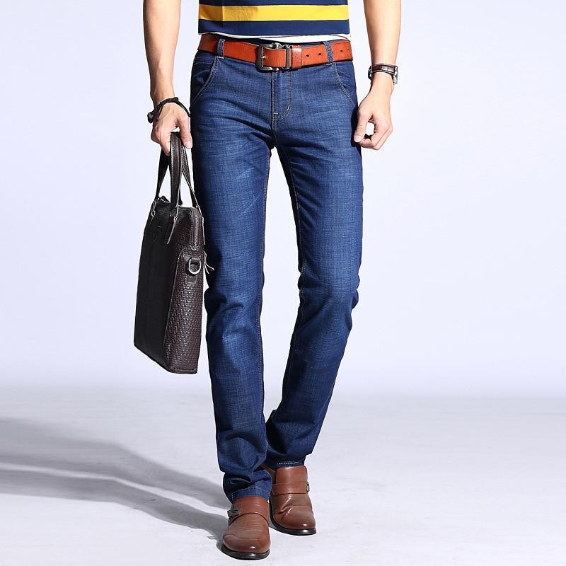 Summer MEN'S Jeans MEN'S Black Skinny Pants Korean-style Elasticity Slim Fit Thin Straight-Cut Loose-Fit Trend Pants Men's
