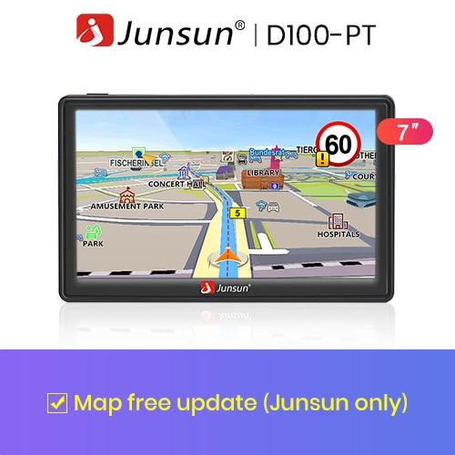 Junsun 7 дюймов HD gps-навигации автомобильный FM 8 ГБ / 800 мГц карта бесплатное обновление россия навител системный блок навигатор автомобильный - Размер экрана, дюймов: No Camera No BT
