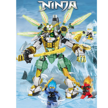New Ninja Series Lloyd's Titan Mech Model Ninjagoeds Building Blocks Kids Boy Toy Bricks Gift 2