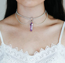 Women Crystal Quartz Stone Pendant Chain Multi-layer Choker Chunky Statement Bib Necklace Gift 2020 new highlight pearl pendant choker necklace for women luxury crystal multi layer clavicle chain statement party jewelry