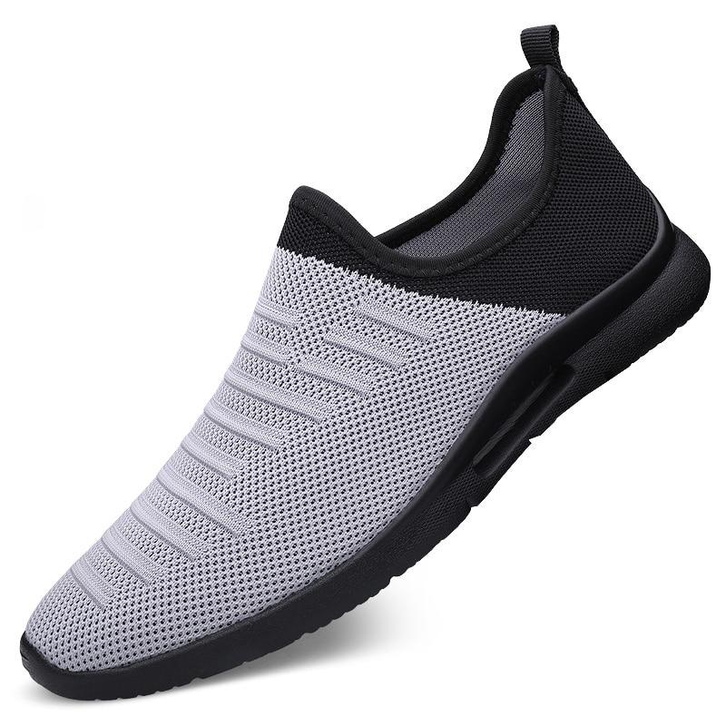 2020 Mens Casual Shoes Men Slip-on Sock Sneakers Breathable Light Leisue Walking Jogging Running Tenis Masculino Adulto 1