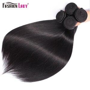 Image 5 - Thời Trang Nữ 3 Ốp Lưng Brasil Thẳng Tóc Dệt Lưng Với 5X5 Inch Ren Đóng Cửa Phần Giữa Con Người 100% tóc Không Remy
