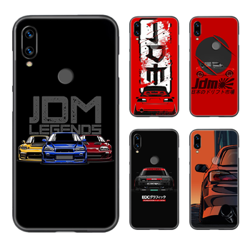 Japan JDM Sports Car Phone Case Cover Hull For XIAOMI Redmi 7a 8a S2 K20 NOTE 5 5a 6 7 8 8t 9 9s pro max black Etui fashion image