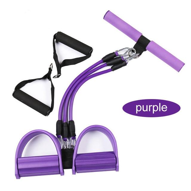 ALI shop ...  ... 32956264694 ... 5 ... Fitness Gum 4 Tube Resistance Bands Latex Pedal Exerciser Sit-up Pull Rope Expander Elastic Bands Yoga equipment Pilates Workout ...