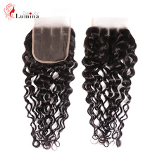 Hair Human-Hair-Weaves Lace Closure Water-Wave Brazilian Swiss Middle/free-Part