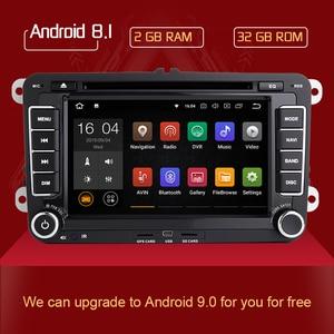 2din Android 8,1 GPS Авторадио для Skoda Octavia 2 Passat B6 VW T5 Polo Amarok Volkswagen Superb 3 Seat Leon Golf 5 6 мультимедиа