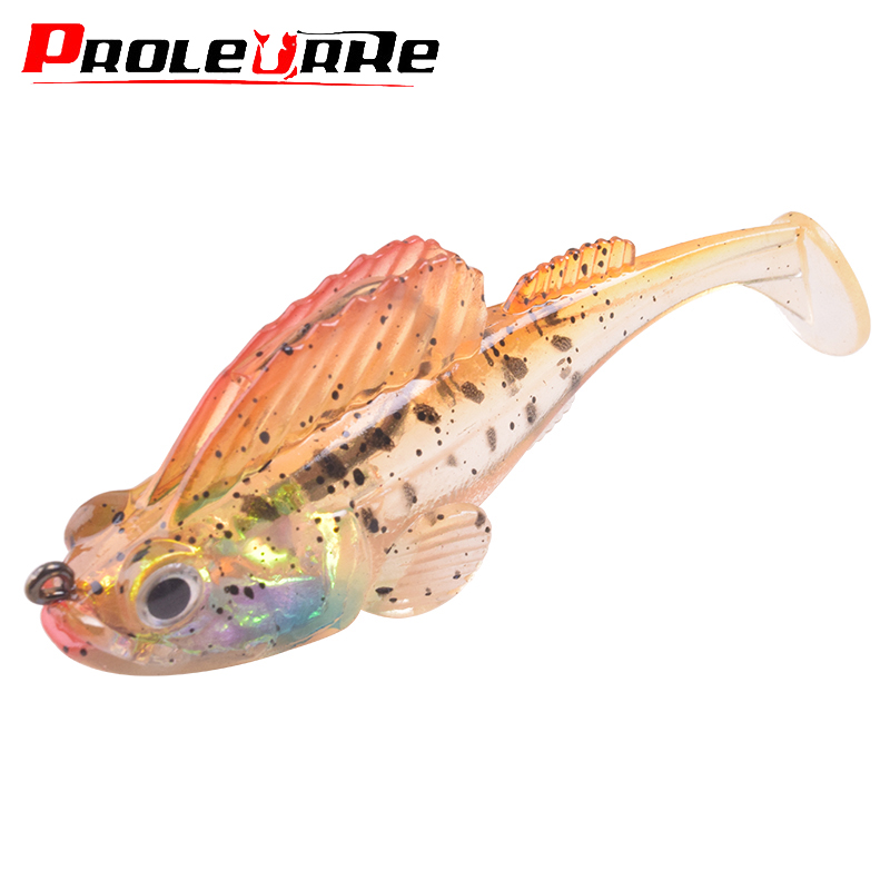 Proleurre Fishing Jigging Wobbler Soft Lure Lead Head Mustad Hooks 90mm 21.7g Swimbaits Silicone Soft Lure For Pike Bass Perch