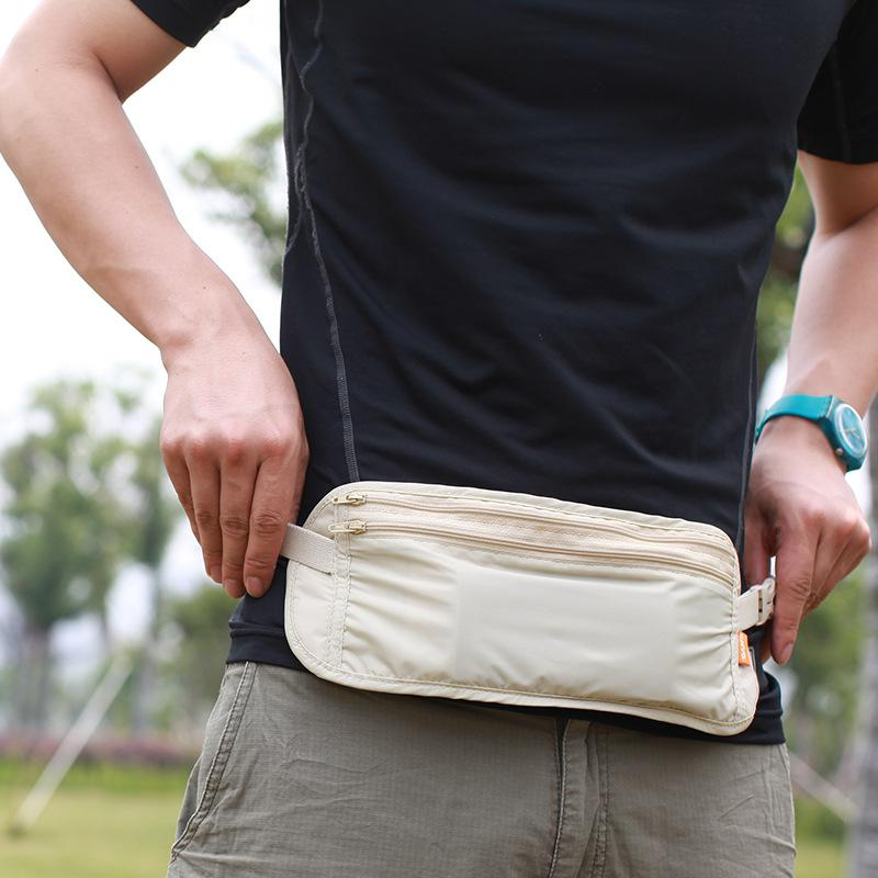 HiMISS Waist Bags Outdoor Travel Invisible Pockets Anti Theft Package Sports Waist Bag Purse Close fitting invisible pockets Athletic Bags     - title=