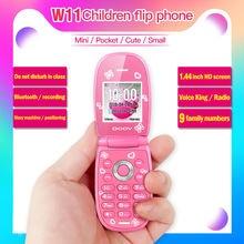 1.44″ Mini flip phone Storytelling machine Cute Girl Phone voice king Bluetooth Unlocked Kids MP3 Children cheap Cell Phone