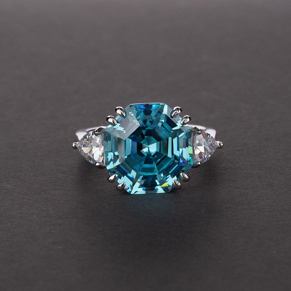 CMajor 100% solide S925 Bijoux en argent Sterling de luxe 5A grand zircon cubique marque de fiançailles Bijoux de mariée anneau pour les femmes