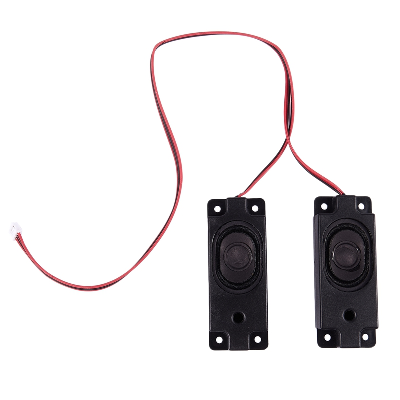 1 par de 4 clavijas de equilibrio rectángulo altavoz magnético amplificador 3W 8 Ohm