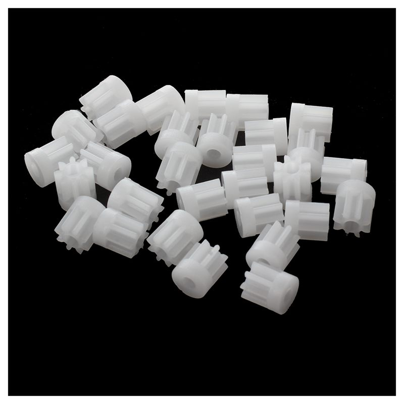30Pcs 0.5 Modulus 8 Teeth Plastic Gear Cog For 2mm Toy Car Motor Shaft