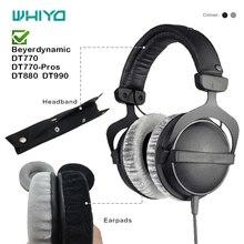Whiyo 1 Set di Ricambio Fascia & Cuffie per Beyerdynamic DT770 DT880 DT990 Auricolari Cuscino Della Copertura Del Respingente Tazze Ear Pad #