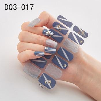 14pcs/sheet Glitter Gradient Color Nail Stickers Nail Wraps Full Cover Nail Polish Sticker DIY Self-Adhesive Nail Art Decoration 45
