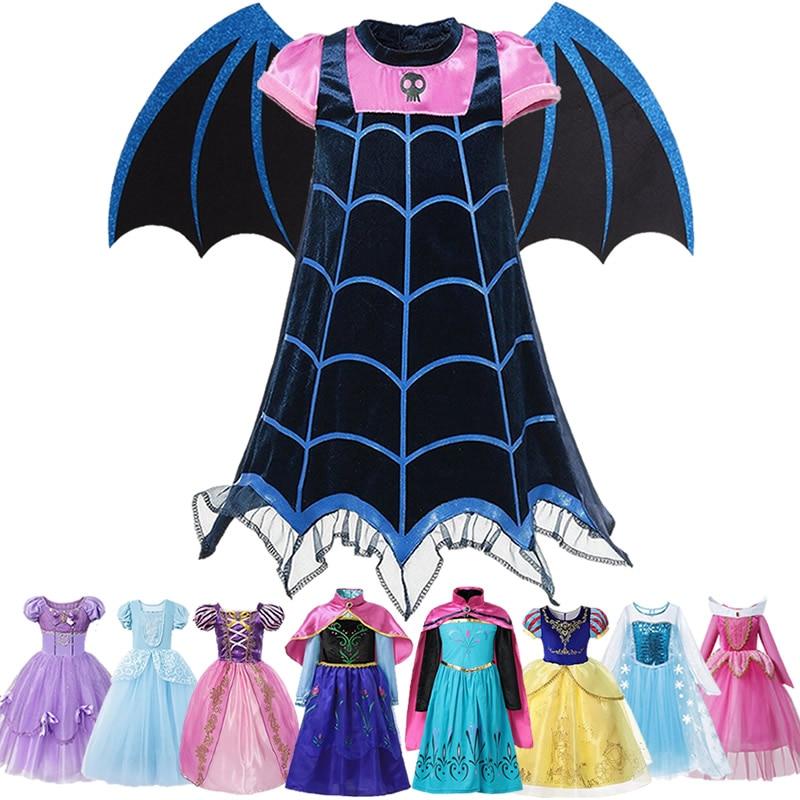 Girl Vampirina Makeup Dress Cartoon Movie Toy Story 4 Jessie Cosplay Aladdin Jasmine Princess Clothes Halloween Costume For Kids