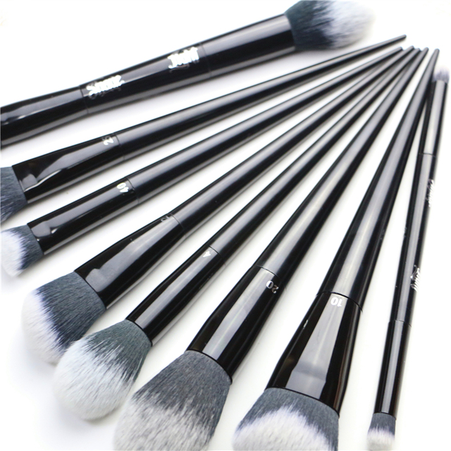 Makeup Brushes Big Powder Bronzer High gloss Foundation Blusher Concealer Shadow Highlighter Sculpting Light Dark Smoky Liner 5