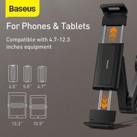 Baseus Car Seat Rear Phone Holder Tablet Phone Car Rear Pillow Phone Stand Headrest Mount Bracket for Phone Tablet 4.7-12.3 Inch