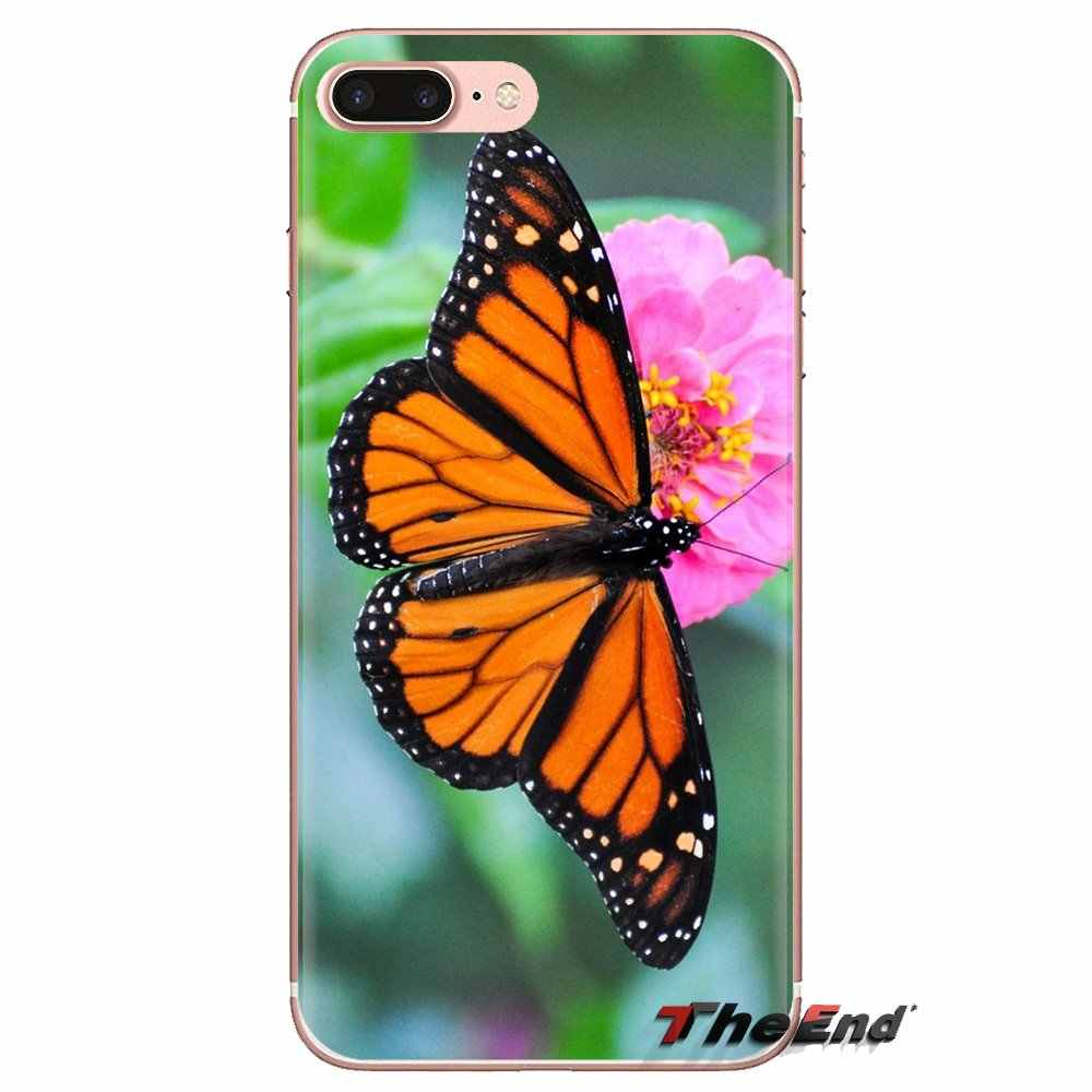 Samsung Galaxy S2 S3 S4 S5 MINI S6 S7 kenar S8 S9 artı not 2 3 4 5 8 coque Fundas konut fil monarch kelebek uğur böceği