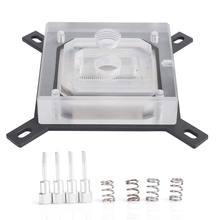 Bloque de refrigeración por agua para CPU, bloque líquido, Panel acrílico con rosca Micro Waterway G1/4 de 0,5mm para INTEL-115X / 2011 / 2066 Series