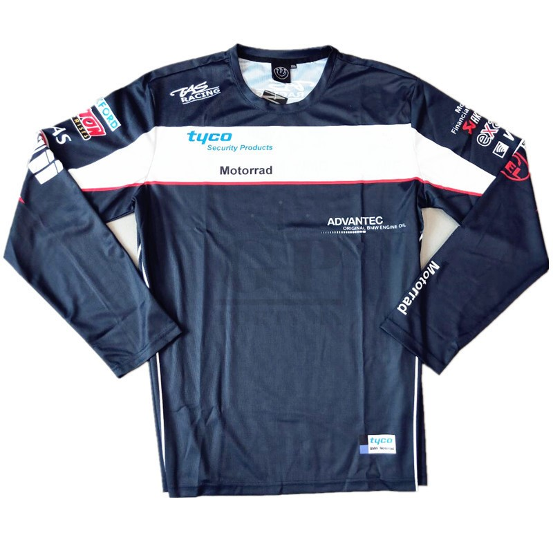 Motorcycle Men's Tyco <font><b>T</b></font>-<font><b>Shirt</b></font> Moto Long Jersey Polyester & Nylon For <font><b>BMW</b></font> Tops Racing Tee <font><b>Shirts</b></font> Pecial Features Breathable S-XXL image