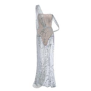 Image 5 - Misswim lungo Sexy trasparente delle donne del vestito 2019 di Estate paillettes vestiti da partito Delle Signore di Scintillio lucido aderente night dress Abiti XL