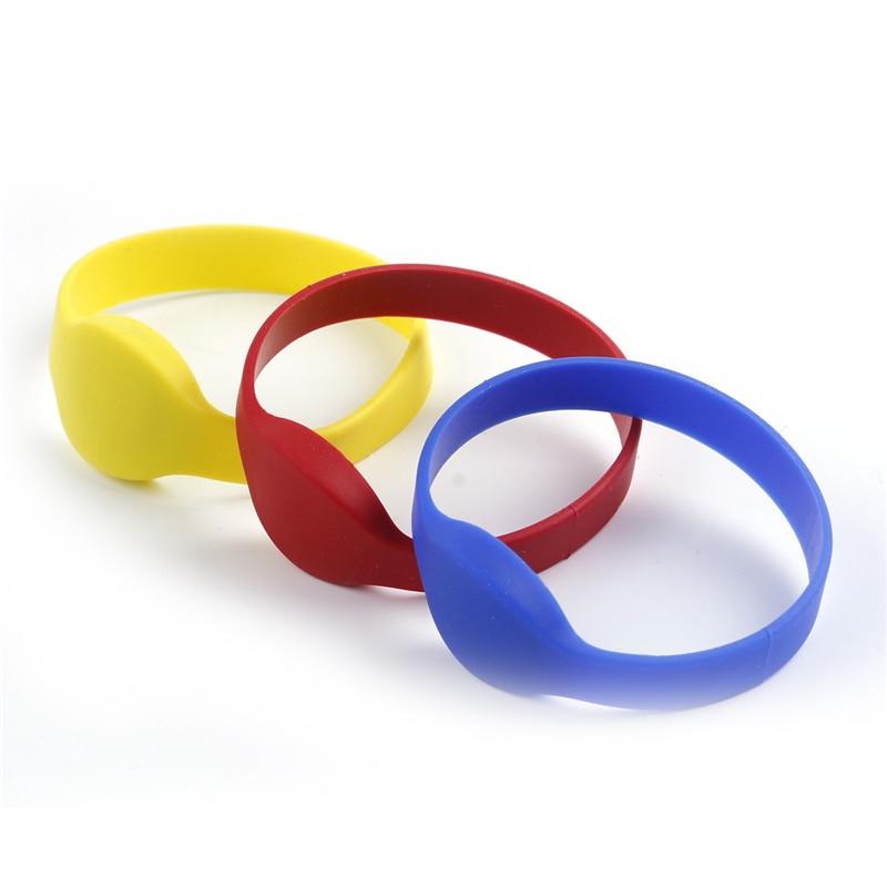 OWGYML 125khz EM4100 TK4100 RFID Wristband Bracelet ID Card Silicone RFID Band Read Only Access Control Card NFC Tags
