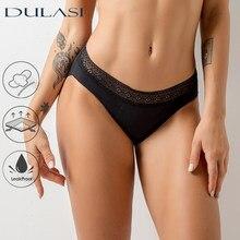 Sexy rendas calcinha menstrual mulher roupa interior tanga à prova de vazamento cuecas incontinência período à prova ddropágua dropshipping dulasi
