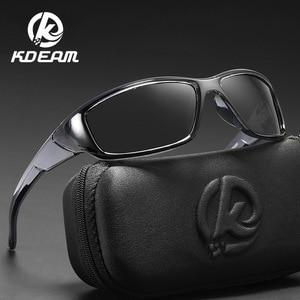 Image 5 - Kdeam Merk Vissen Bril Outdoor Sport Zonnebril Voor Mannen Pc Frame Hd Lens Gepolariseerde UV400 Bril Klimmen Zon Glassess