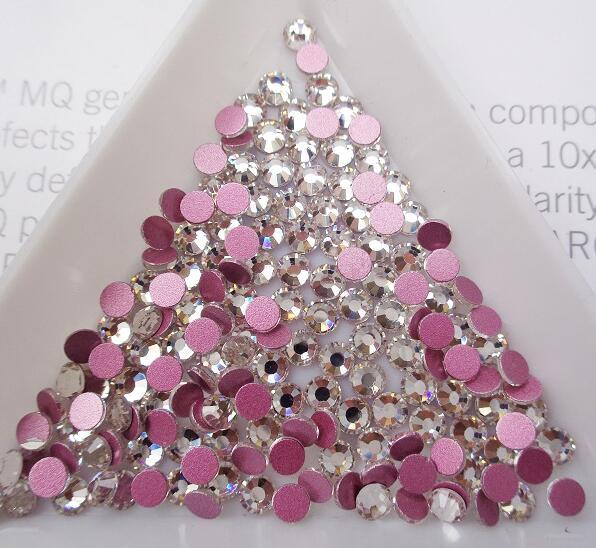 Супер Блестящий Кристалл AB Стразы SS3-SS50 не горячей фиксации FlatBack шитье стразами и ткань одежды дизайн ногтей Стразы Украшения - Цвет: Pink Clear