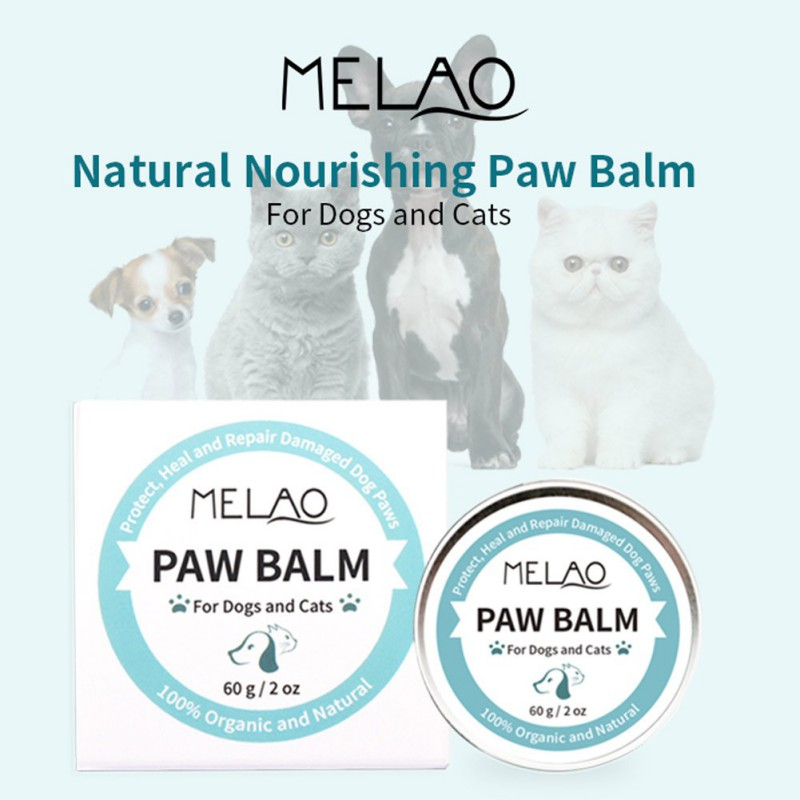60g Paw Balm For Cats And Dogs Cream Ointment For Dry And Cracked Noses Paws Pet Paw Protection Wax Pet Paw Moisture Care Cream