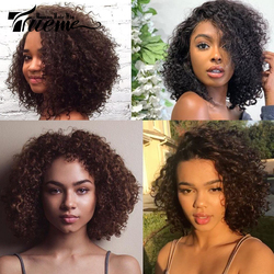 Trueme Wet And Wavy Wave Short Bob Front Lace Wig Brazilian Water Wave Lace Front Wigs For Black Women 99J Red Brown Mix