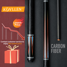KONLLEN Carbon Pool Cue Stick 12.6mm Carbon Fiber Shaft 3/8*8 Radial Pin Joint Leather Grip Technology Handmade Billiard Cue Kit