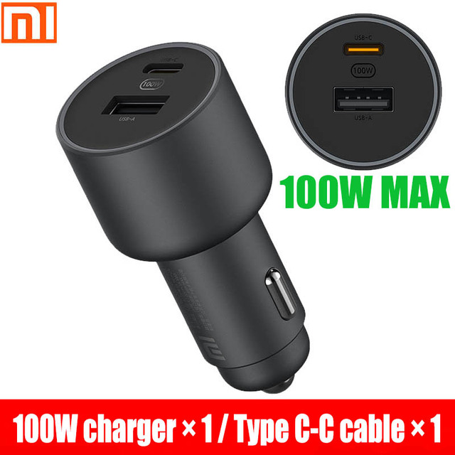 Xiaomi car charger fast charging version 1A1C 100W USB C 100W MAX fast charging/USB A, USB C dual port output