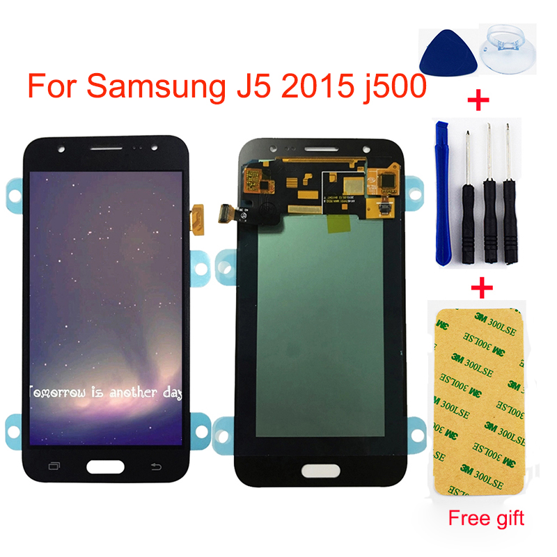 AMOLED LCD pour Samsung J5 2015 j500 SM-J500F J500H J500FN LCD tactile J500M J500Y écran tactile numériseur LCD affichage assemblée