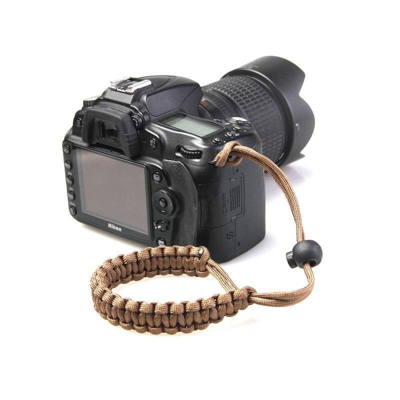 Новый ремешок для камеры наручный ремешок ручной захват Паракорд плетеный браслет для Nikon Canon Sony Pentax Panasonic DSLR